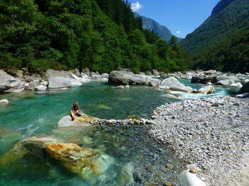 Ticino, Verzasca, Žalias Vanduo, Torrent, Akmenys