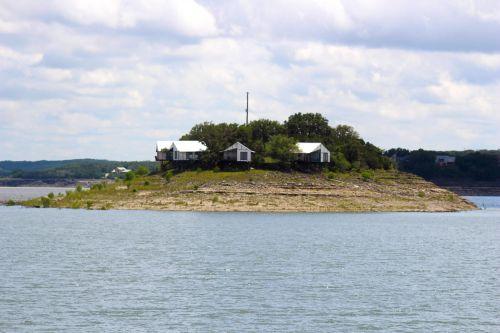 sala, ežerai, vasaros namuose, tikki & nbsp, sala, Tiki sala medina ežeras texas