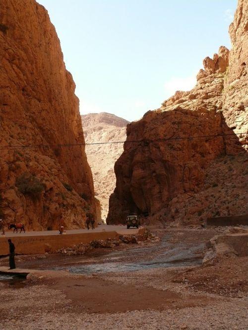 Todra Gorge,Marokas,Gorge,kanjonas,dykuma