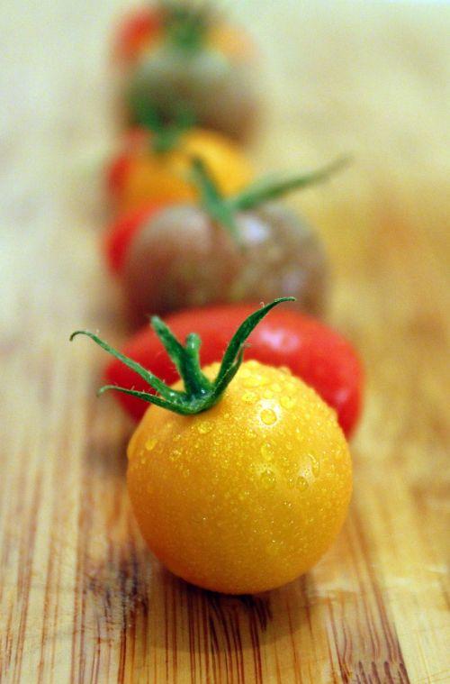 pomidorai,geltona,daržovės,sveikas,nachtschattengewächs,vegetariškas,maistas,salotos,valgyti,frisch,kokteilis pomidorai,pomidorų vaisiai,apvalūs pomidorai,užkandžių pomidorai,augalas,daržovių auginimas,pailgi pomidorai,vasara,natiurmortas