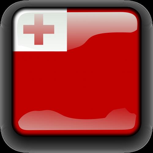 tonga,vėliava,Šalis,Tautybė,kvadratas,mygtukas,blizgus,nemokama vektorinė grafika