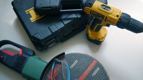 įrankiai, grąžtas, įranga, remontas, namai, atsuktuvas, nustatyti, instrumentas, kątowa, rinkinys, komplektas, Techninė įranga, nustatyti, akiniai