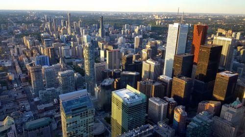miestas, miesto panorama, architektūra, pastatai, toronto, Ontarijas, Kanada, dangaus & nbsp, peržiūra, toronto, Kanada