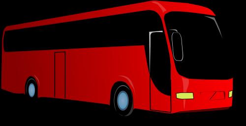 turistinis,autobusas,transporto priemonė,raudona,juoda,kelias,transportas,kelionė,kelionė,turistai,kelionė,treneris,nemokama vektorinė grafika