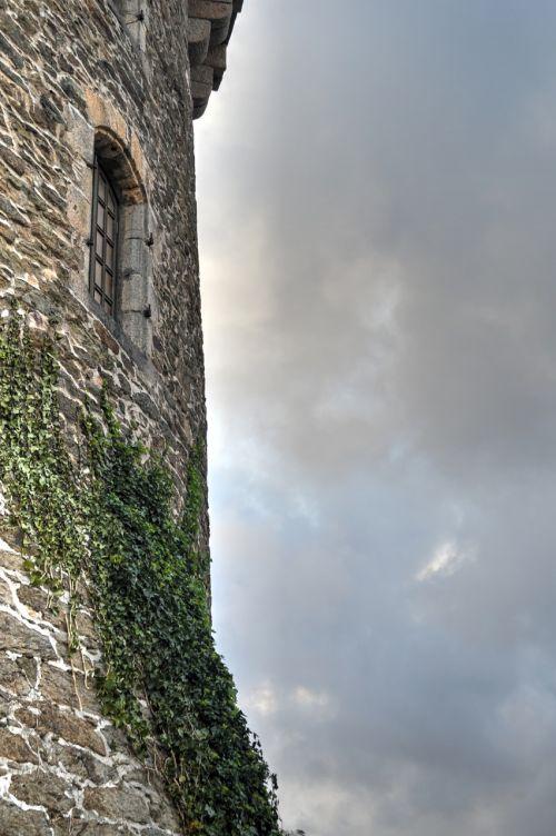bokštas,senas akmuo,paveldas,senas bokštas,kaimiškas,anglų ivy,senas pastatas,finistère,Brittany,france,senas prancūzų pastatas,senas senas namas