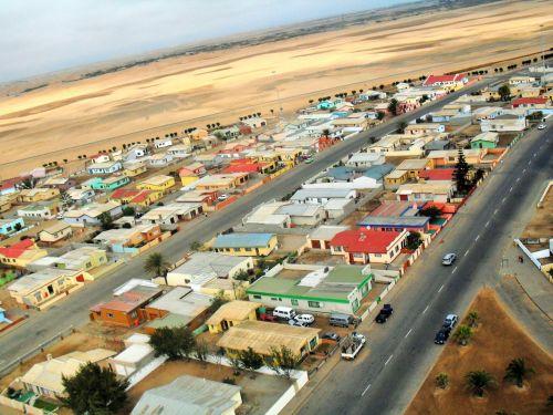 priemiestyje, būstas, gyvenamasis, dykuma, miestas Narraville Namib dykumoje