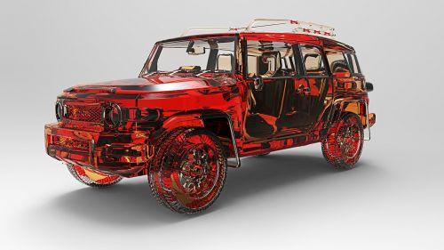 toyota fj cruiser,visureigė transporto priemonė,išjungtas keltuvas,automobiliai,vietos,dykuma,laukas,4 x 4,važiavimas be važiuojamosios kelio,3d modelis