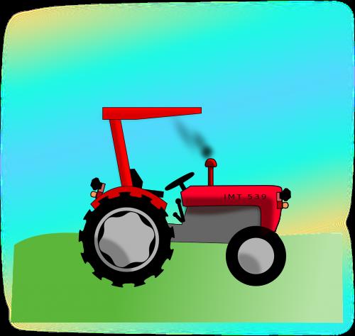 traktorius,Jugoslavija,imt,laukas,nemokama vektorinė grafika