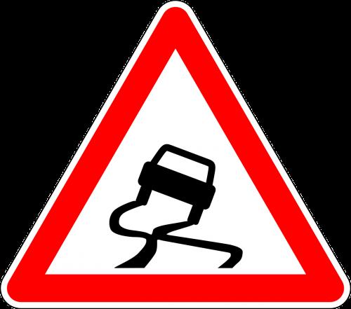 kelio zenklas,ženklas,slidus kelias,kelio ženklas,kelio ženklas,įspėjamasis ženklas,kelio ženklas,eismo ženklas,elgtis atsargiai,Slidu,nemokama vektorinė grafika