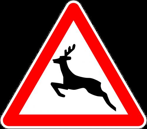kelio zenklas,ženklas,laukiniai gyvūnai kirsti,kelio ženklas,kelio ženklas,įspėjamasis ženklas,kelio ženklas,eismo ženklas,raudona,įspėjimas,elnias,nemokama vektorinė grafika