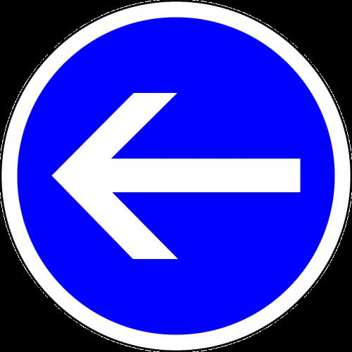 kelio zenklas,Pasukite į kairę,kairėje,ženklas,reguliavimo ženklas,kelio ženklas,kelio ženklas,eismas,kelio ženklas,eismo ženklas,nemokama vektorinė grafika