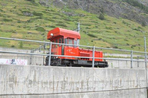 traukinys, Ustawiacz, dyzelinis, MATTERHORN Gotthard Bahn, Zermatt, Šveicarija, Matterhorn, ganykla