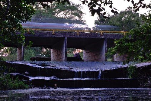 transportavimo sistema, eismo, tiltelis, greitis, transporto priemonės, judesio, betono struktūra, vandens, Belize, ispanų Lookout