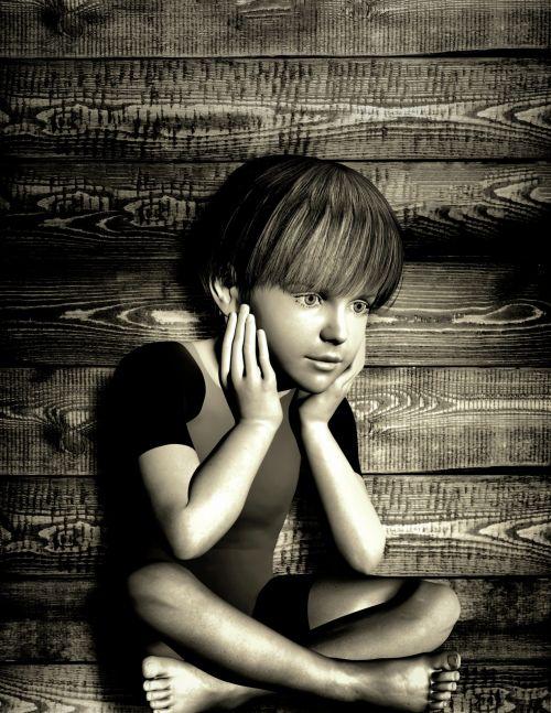 vaikas, liūdesys, veidas, berniukas, žmonės, juoda, balta, portretas, atrodo, nuotaika, fonas, svajoti, liūdnas vaikas - portretas