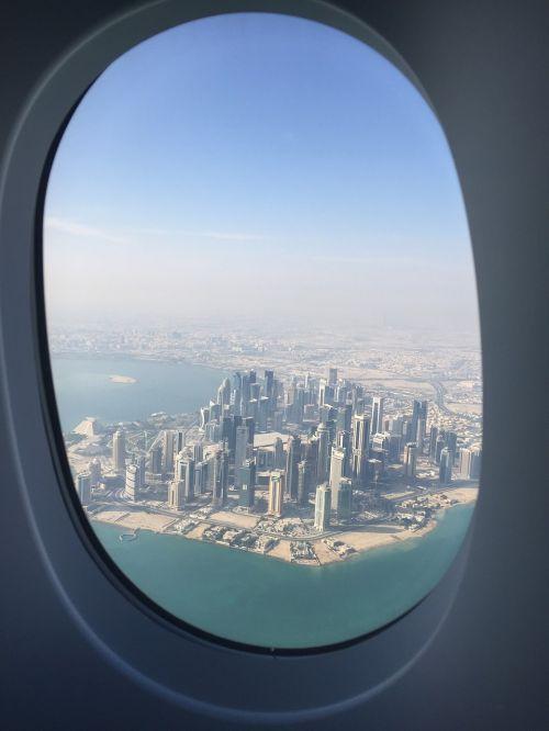 Kelionė, Artimieji Rytai, Kataras, Miesto Panorama, Vaizdas, Aukščiau