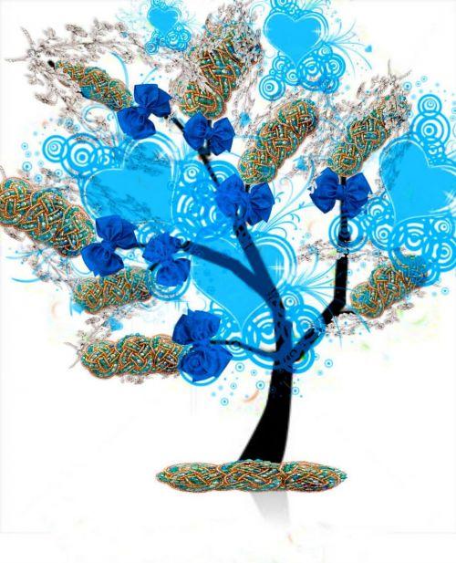 medis,ryšiai,mėlynas,vaizduotė