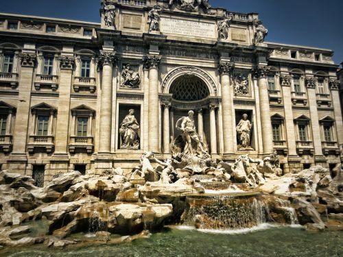 trevi fontanas,fontana di trevi,Roma,italy,fontanas,Europa,pastatas,architektūra,romėnų,senas,miestas