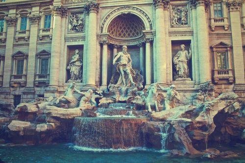 trevi fontanas,Roma,italy,fontana di trevi,fontanas,istorinis,senovės,Leonardas da Vinčis,vanduo,marmuras,architektūra,statula,skulptūra,žinomas,ispanų,orientyras,paminklas,romėnų,neptūnas,menas,statulos,skulptūros,istorija