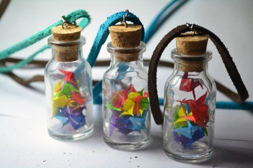 Tsuru,popierius,pasta,buteliai,Pasidaryk pats