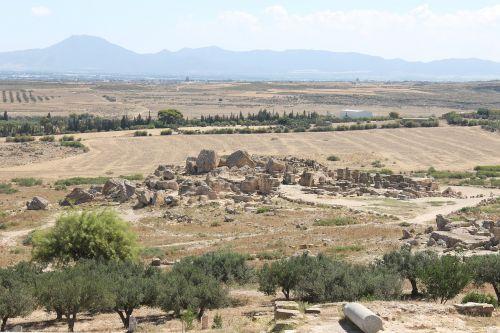Tunisas,udna,griuvėsiai,romėnų griuvėsiai,vaizdas,romėnų imperija,romėnų,istorinis,senovės,panorama,turizmas