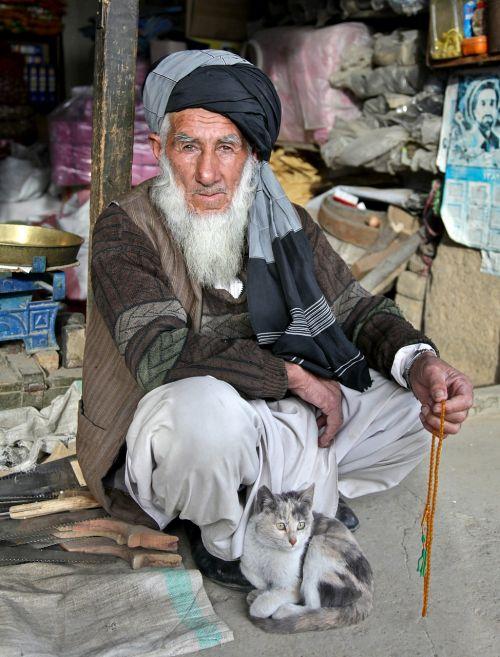 turbanas,Beduinas,vyras,senas,Bart,Afganistanas,Afganistanas,prekiautojas,bazar