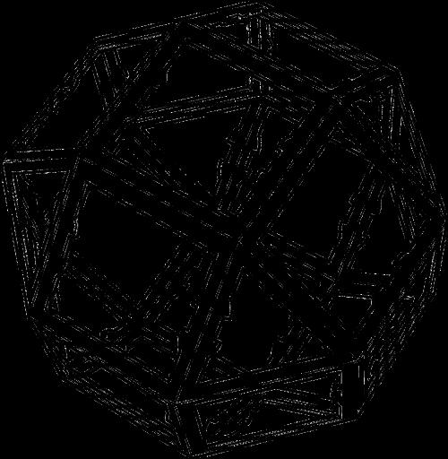 dvidešimt šešios pusės formos,icosikaihexagon,pailga kvadratas gyrobicupola,rombikubokteadras,nerimtas kvadratas antiprismas,puikus rombo-kubokateadras,26 agonas,nemokama vektorinė grafika