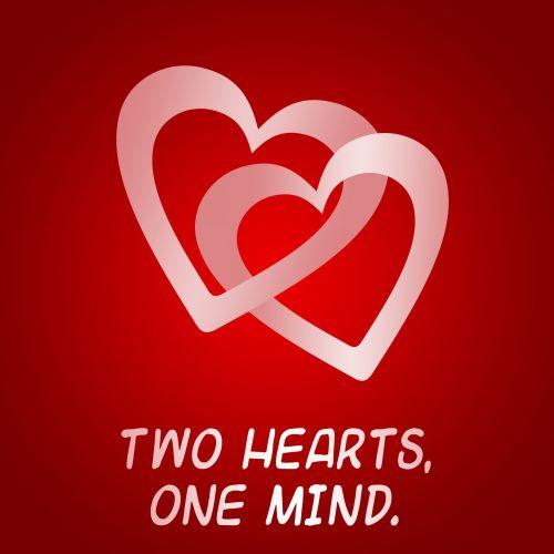širdis, širdis, sujungtas, prisijungė & nbsp, širdis, raudona, rožinis, meilė, sąjunga, santuoka, įsitraukimas, valentine, & nbsp, Valentino diena & nbsp, romantika, emocija, romantiškas, vaikinas, mergina, vyru, žmona, du širdis vienas protas