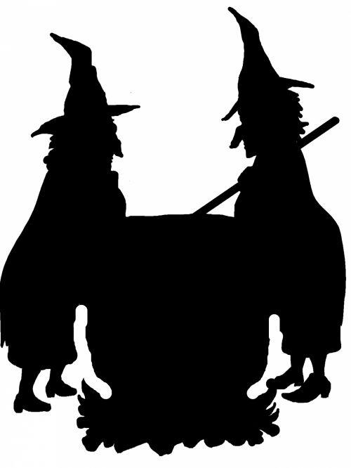 siluetas, siluetai, kontūrai, šešėlis, šešėliai, clip & nbsp, menas, j & nbsp, r & nbsp, libby, iškarpų albumas, laužas & nbsp, knyga, Scrapbooking, ragana, raganos, velnias, blogis & nbsp, ragana, baugus, Halloween, juoda ir ragana, burtai, pranašai, šventė, atostogos, kostiumai, dvi raganos