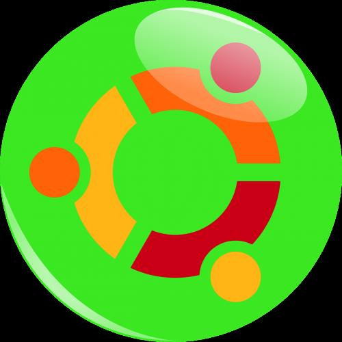 ubuntu logotipas,ubuntu,logotipas,linux,Operacinė sistema,kompiuteris,šviesiai žalia,piešimas