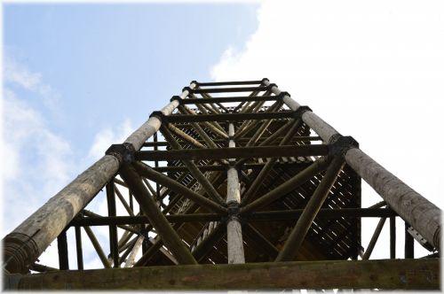 mediena, bokštas, aukštas, statyba, apeldoorn, holland, dalis, dalis medinio bokšto 2