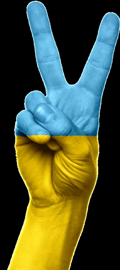 ukraina,vėliava,ranka,taika,pergalė,simbolis,ženklas,patriotizmas,patriotinis