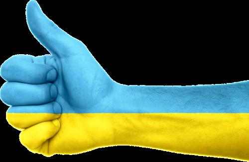 ukraina,vėliava,ranka,Nykščiai aukštyn,ženklas,patriotizmas,patriotinis,simbolis