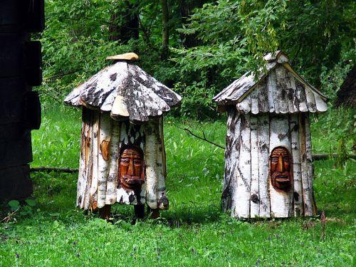 Ule,skulptūra,bitės,pasieka,paskirstymo poveikis,bitininkystė,medus,bičių,mediniai bičių aviliai,bitininkystė,stilizuotas,namelis,išsiaiškinau,ul