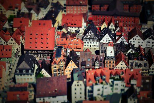ulm,miestas,swabia,vaizdas,pakreipiamas poslinkis