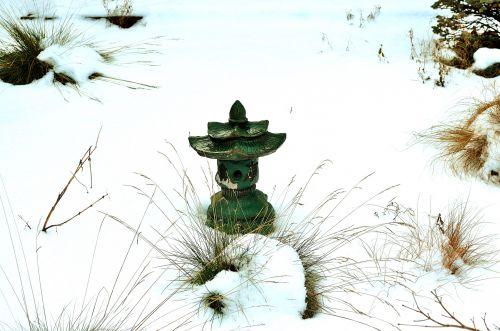 sniegas, šaltas, sezonas, medis, žolė, apdaila, sodas, pieva, gamta, pagoda, ornamentas, po sniegu