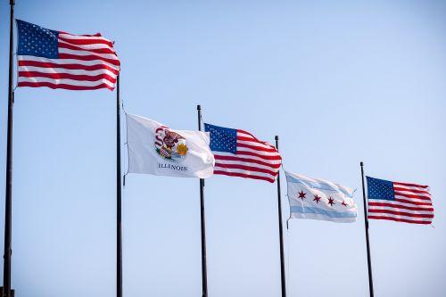 Jungtinės Valstijos vėliava,Tautinė vėliava,valstybės vėliava,miesto vėliava,illinois flag,čigonų vėliava