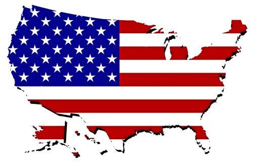 žemėlapis, usa, vėliava, izoliuotas, amerikietis, kontūrai, nacionalinis, šventė, žvaigždės, vieta, sienos, united, žemynas, tauta, iliustracija, kartografija, plotas, pasaulis, valstijos, juostelės, Šalis, reklama, geografija, vieningos & nbsp, valstijos, Jungtinės Valstijos žemėlapis su vėliava