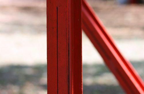 parama, vertikaliai, stiprus, metalas, raudona, vertikali metalo parama