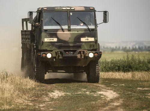 JAV Kariuomenė,Jungtinių Amerikos Valstijų kariuomenė,sunkvežimis,šarvuotos,judėjimas,mokymas