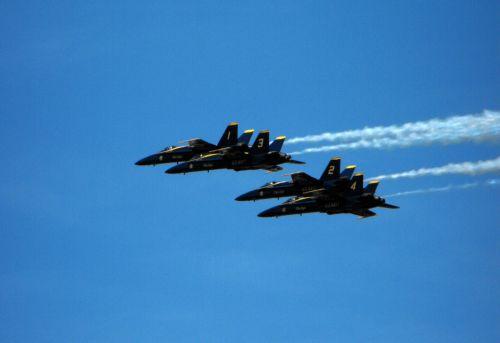 lėktuvas, reaktyvinis, mėlynas, angelai, dangus, karinis jūrų laivynas, aišku, u.s. tamsiai mėlyni angelai