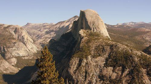 usa,josemitas,Jošemito parkas,Nacionalinis parkas,josemito nacionalinis parkas,idiliškas,Kalifornija,panorama,puse kupolas
