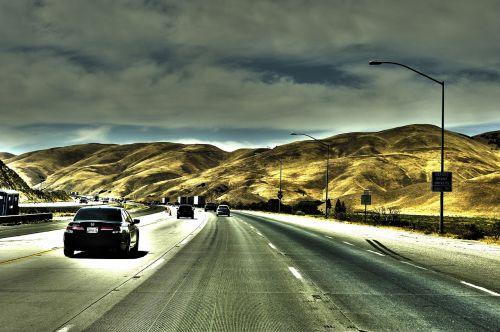 usa,Kalifornija,kelias,hdr,kalnai,greitkelis,greitkelis,amerikietis