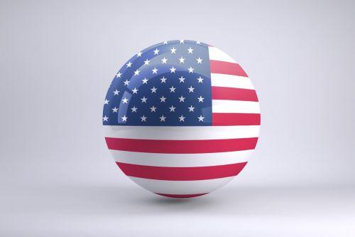 Usa Flag, Sfera, Rutulys, Vėliavos Sritis, Amerikietis, Vėliava, Usa, 3D, Apvalus, Simbolis, Valstijos, Balta, Ratas, Piktograma, Nacionalinis, Dizainas
