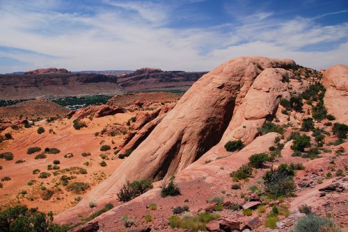 Utah,Moab,dykuma,sausas,nevaisinga,slėnis,pietvakarius,desolate,vasara