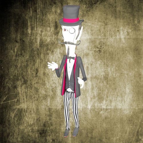 piešimas, vampyras, vyras, Grunge, kostiumas, fonas, kelnės, pants, akiniai, monoklis, juostelės, izoliuotas, skrybėlę, vampyras vyras