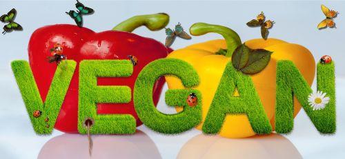 Veganas, paprika, raudona, geltona, daržovių, sveikas, požiūris, gyvenimo būdas, mityba, veganas