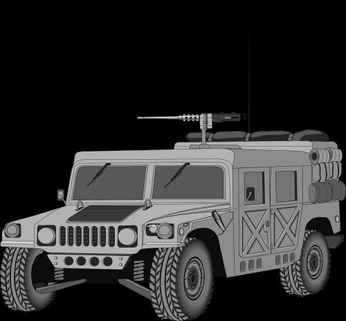 transporto priemonė,kariuomenė,Hummeras,pistoletas,ginklas,šarvuotos,gynyba,ginkluotosios,ataka,karas,šarvai,sunkvežimis,nemokama vektorinė grafika