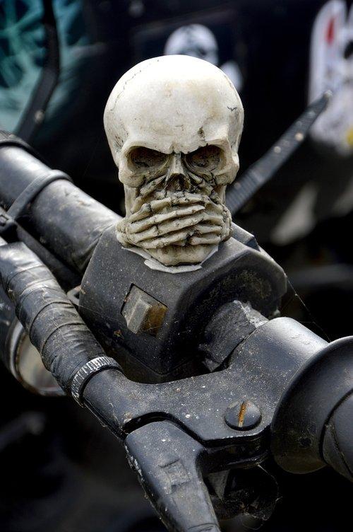 transporto priemonės, Nė vienas asmuo, žmogus, kaukolė, skeletas, gotika, baikeris, Motociklų, tyla