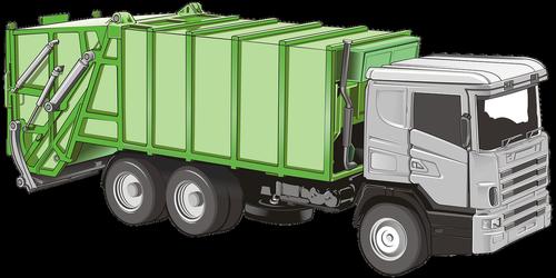 transporto priemonės, Sunkvežimis, transportas, mechanika, šiukšlių, mėlyna, pilka, šiukšlių sunkvežimis, perdirbimas, atliekų, atliekų šalinimo, automobilių, chromo, Sunkvežimis Sunkvežimis, traktorius, priekaba, Nemokama iliustracijos