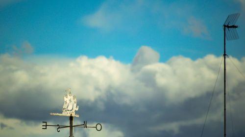 oras & nbsp, vėjui, vėjo vėjas, vėjas, debesys, tarp debesų buriuotojas